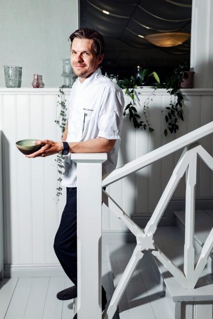 25.5.2018. Punkaharju. Hotelli Punkaharjun pääkokki Mikko Lahtinen